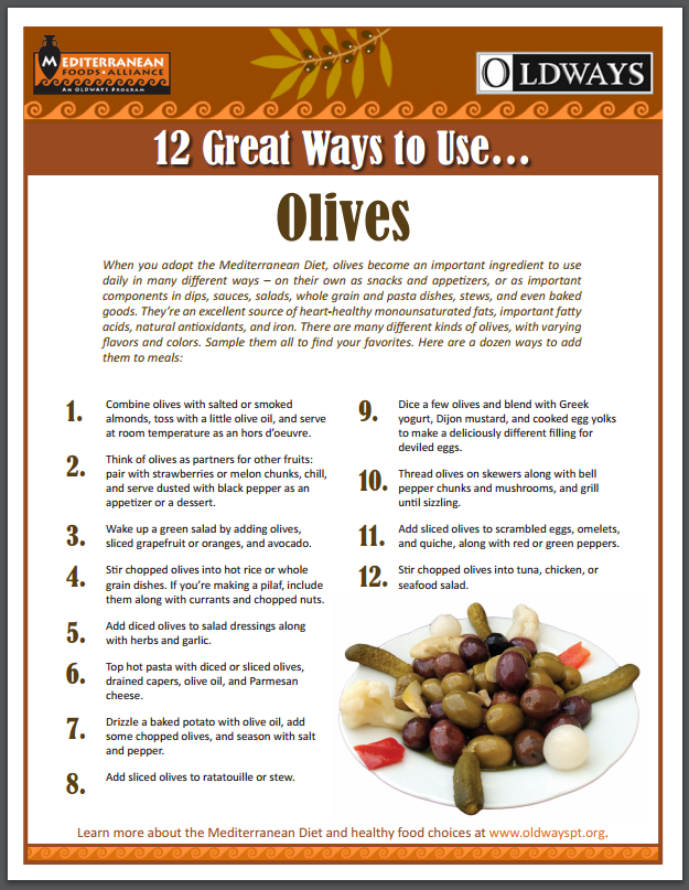 12 ways to use olives