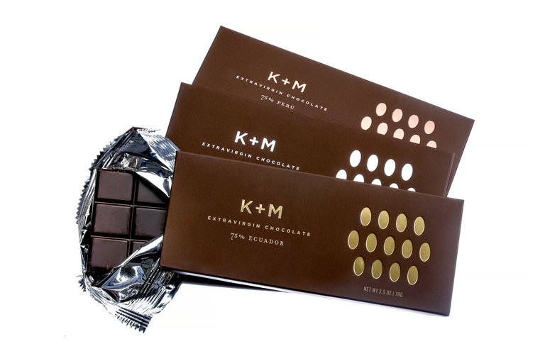 K & M Chocolates are made with olive oil instead of cocoa butter.